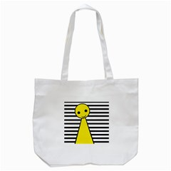 Yellow Pawn Tote Bag (white) by Valentinaart