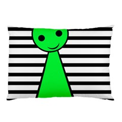 Green Pawn Pillow Case (two Sides) by Valentinaart