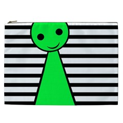 Green Pawn Cosmetic Bag (xxl)  by Valentinaart