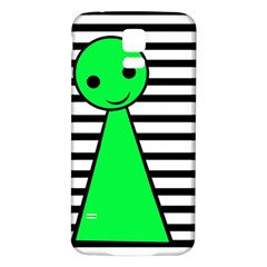 Green Pawn Samsung Galaxy S5 Back Case (white) by Valentinaart