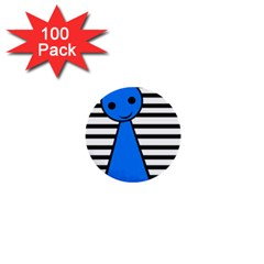 Blue Pawn 1  Mini Buttons (100 Pack)  by Valentinaart