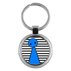 Blue Pawn Key Chains (round)  by Valentinaart