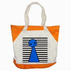 Blue Pawn Accent Tote Bag by Valentinaart