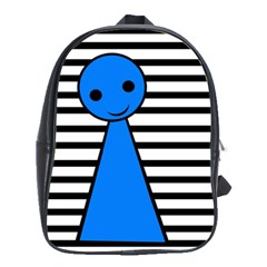 Blue Pawn School Bags(large)  by Valentinaart