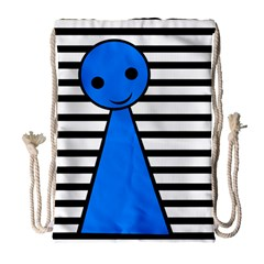 Blue Pawn Drawstring Bag (large) by Valentinaart