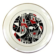 Artistic Abstraction Porcelain Plates by Valentinaart