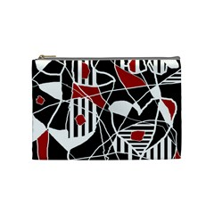 Artistic Abstraction Cosmetic Bag (medium)  by Valentinaart