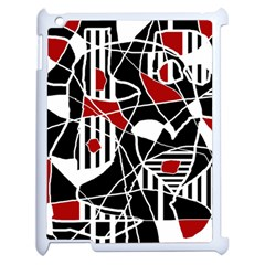 Artistic Abstraction Apple Ipad 2 Case (white) by Valentinaart