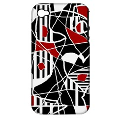 Artistic Abstraction Apple Iphone 4/4s Hardshell Case (pc+silicone) by Valentinaart