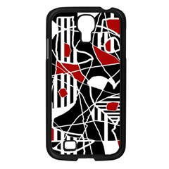 Artistic Abstraction Samsung Galaxy S4 I9500/ I9505 Case (black) by Valentinaart