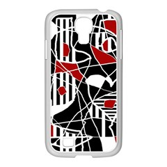 Artistic Abstraction Samsung Galaxy S4 I9500/ I9505 Case (white) by Valentinaart