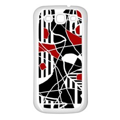 Artistic Abstraction Samsung Galaxy S3 Back Case (white) by Valentinaart