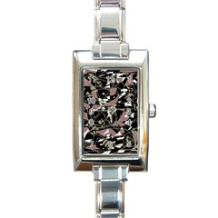 Artistic Abstract Pattern Rectangle Italian Charm Watch by Valentinaart