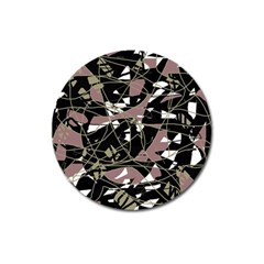 Artistic Abstract Pattern Magnet 3  (round) by Valentinaart