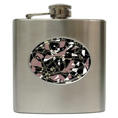 Artistic Abstract Pattern Hip Flask (6 Oz) by Valentinaart