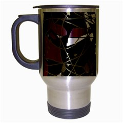 Artistic Abstract Pattern Travel Mug (silver Gray) by Valentinaart