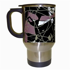 Artistic Abstract Pattern Travel Mugs (white) by Valentinaart