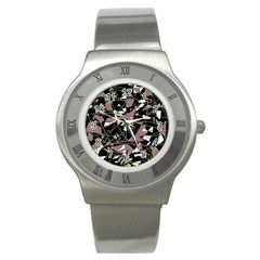 Artistic Abstract Pattern Stainless Steel Watch by Valentinaart