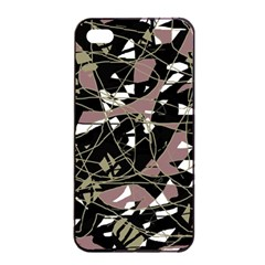 Artistic Abstract Pattern Apple Iphone 4/4s Seamless Case (black) by Valentinaart