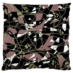 Artistic Abstract Pattern Large Cushion Case (one Side) by Valentinaart