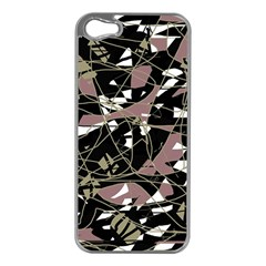 Artistic Abstract Pattern Apple Iphone 5 Case (silver) by Valentinaart