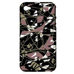 Artistic Abstract Pattern Apple Iphone 4/4s Hardshell Case (pc+silicone) by Valentinaart