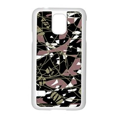 Artistic Abstract Pattern Samsung Galaxy S5 Case (white) by Valentinaart
