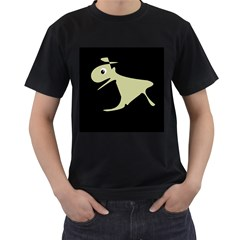 Kangaroo Men s T Shirt (black) (two Sided) by Valentinaart