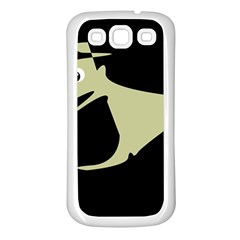 Kangaroo Samsung Galaxy S3 Back Case (white) by Valentinaart