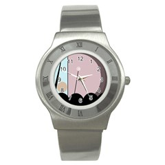 Abstract Design Stainless Steel Watch by Valentinaart