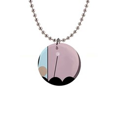 Abstract Design Button Necklaces