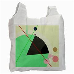 Decorative Abstract Design Recycle Bag (two Side)  by Valentinaart