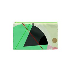 Decorative Abstract Design Cosmetic Bag (xs) by Valentinaart