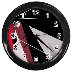 Artistic Abstraction Wall Clocks (black) by Valentinaart