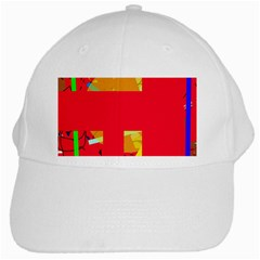 Red Abstraction White Cap by Valentinaart