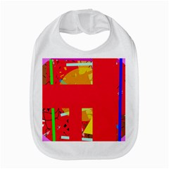 Red Abstraction Bib