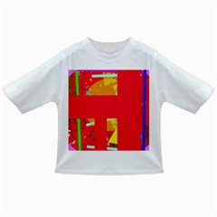 Red Abstraction Infant/toddler T Shirts by Valentinaart