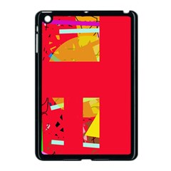 Red Abstraction Apple Ipad Mini Case (black) by Valentinaart