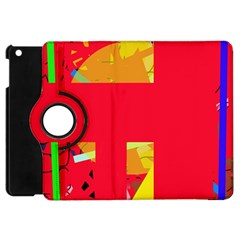 Red Abstraction Apple Ipad Mini Flip 360 Case by Valentinaart