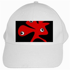 Red Amoeba White Cap by Valentinaart