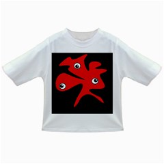 Red Amoeba Infant/toddler T Shirts by Valentinaart