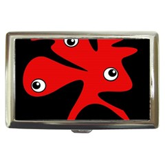 Red Amoeba Cigarette Money Cases by Valentinaart