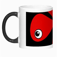 Red Amoeba Morph Mugs by Valentinaart