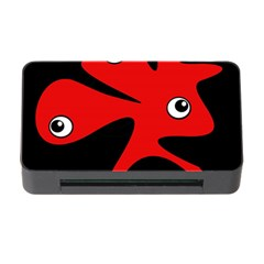 Red Amoeba Memory Card Reader With Cf by Valentinaart