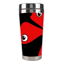 Red Amoeba Stainless Steel Travel Tumblers by Valentinaart