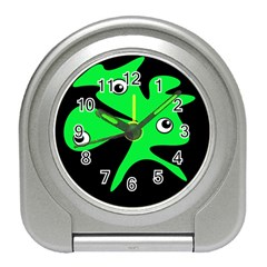 Green Amoeba Travel Alarm Clocks by Valentinaart