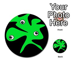 Green Amoeba Multi Purpose Cards (round)  by Valentinaart
