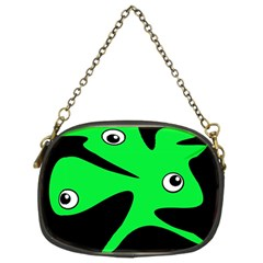 Green Amoeba Chain Purses (two Sides)  by Valentinaart