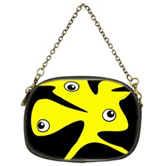 Yellow Amoeba Chain Purses (one Side)  by Valentinaart