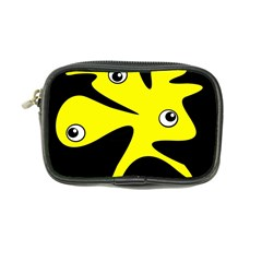 Yellow Amoeba Coin Purse by Valentinaart